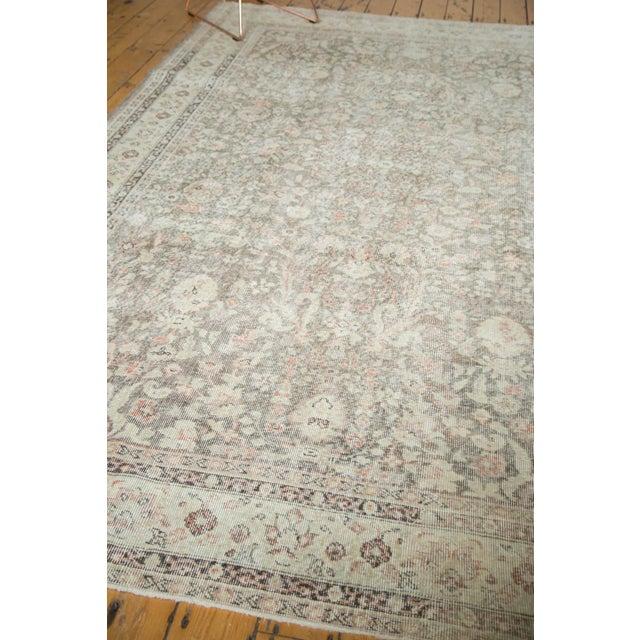 "Orange Vintage Distressed Sivas Carpet - 7'2"" x 10'7"" For Sale - Image 8 of 9"