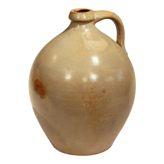 Stoneware Jug Ovoid Antique Early 19th Century 3 Gallon Moonshine Country New England For Sale