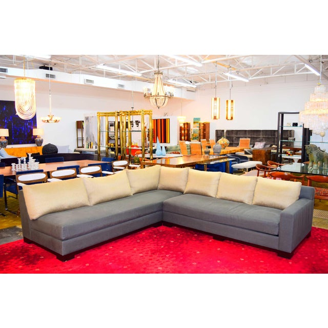 """Christian Liaigre Christian Liaigre """"Ocean"""" Sectional Sofa For Sale - Image 4 of 12"""