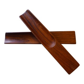 Jens Quistgaard Dansk Teak Salad Servers - a Pair For Sale
