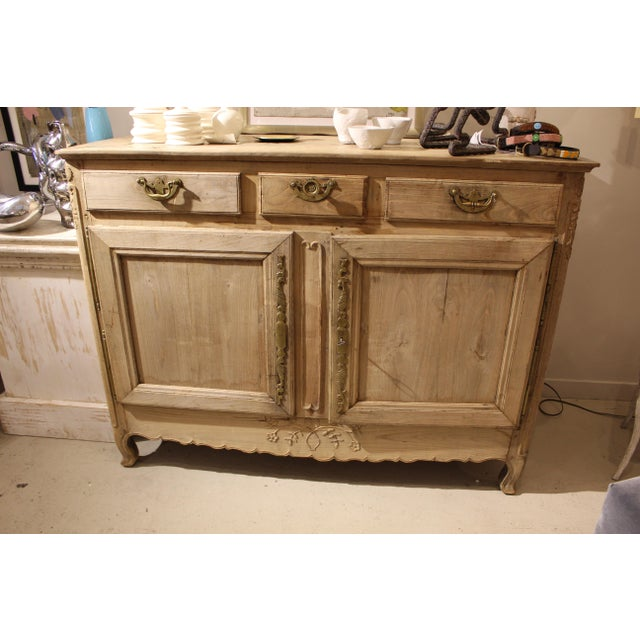 Wood Early 19th Century Bleached French Buffet For Sale - Image 7 of 7