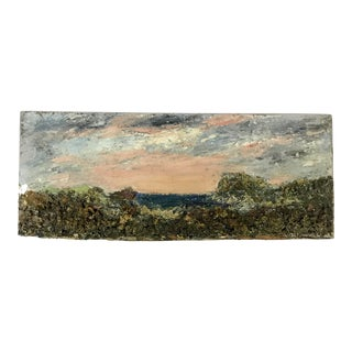 Impasto Oil Landscape Painting on Board