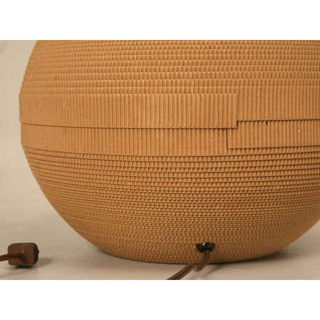 Ultra Cool Vintage Modern Sphere Shaped Cardboard Lamp For Sale In Chicago - Image 6 of 7