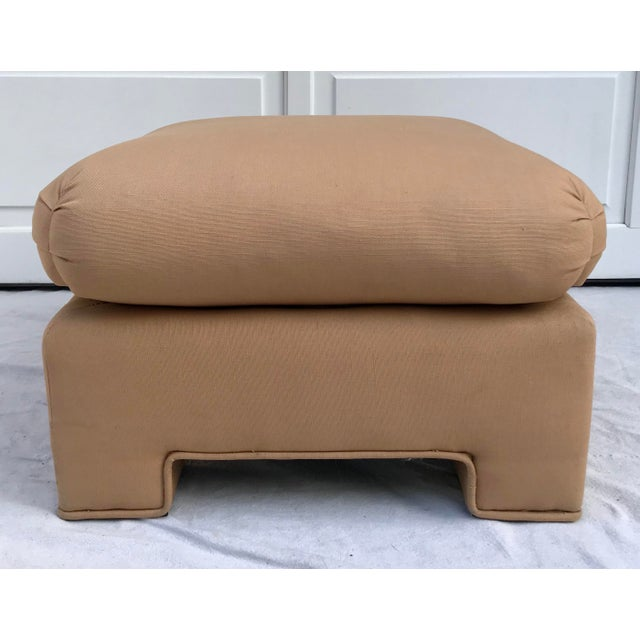 1979 Upholstered Soufflé Style Modern Pink Ottoman For Sale - Image 13 of 13