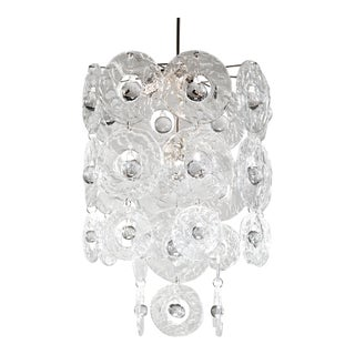 Contemporary Verbier Crystal Hand-Pressed Glass Chandelier by Vaughan For Sale