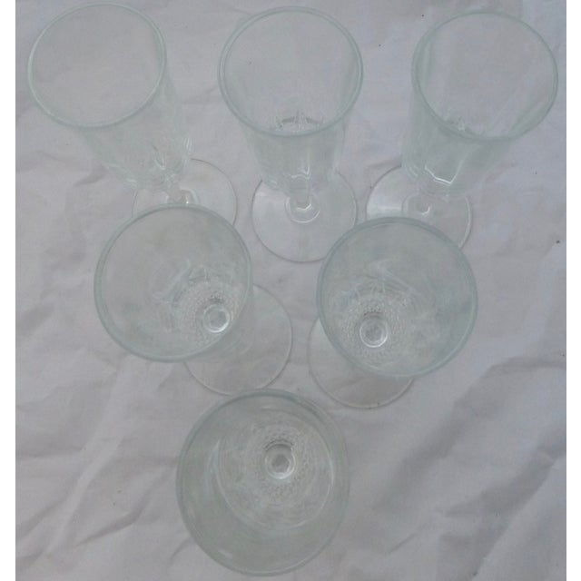 Vintage French Champagne Flutes - Set of 6 - Image 3 of 7