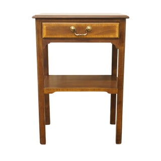 "20th Century Traditional Sherrill Furniture Banded Mahogany 18"" Nightstand For Sale"