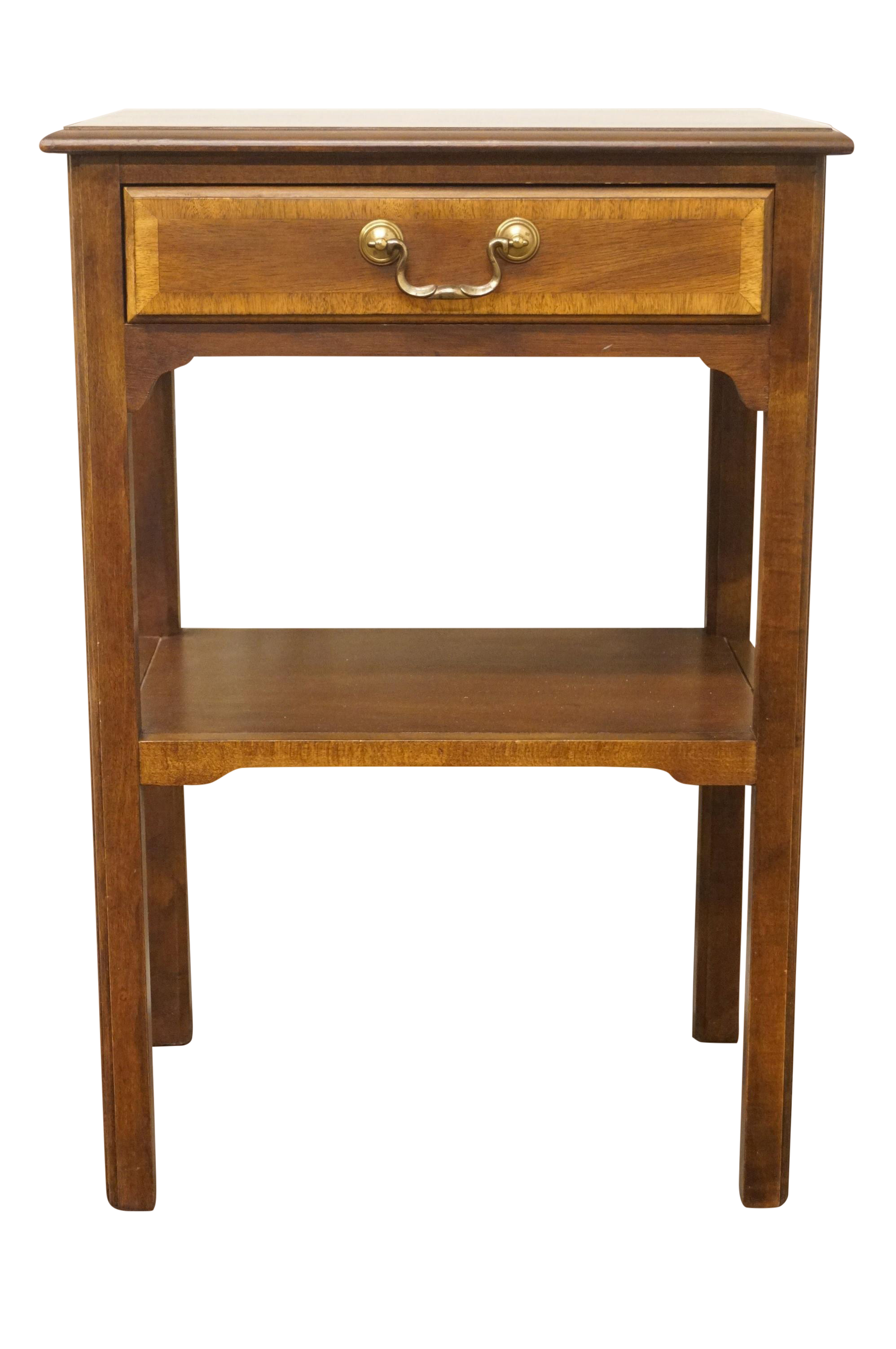 20th Century Traditional Sherrill Furniture Banded Mahogany 18 Nightstand