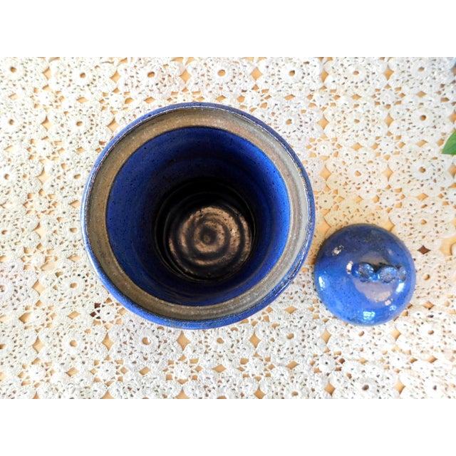 1980s Studio Ceramic Flour Jar For Sale - Image 5 of 6