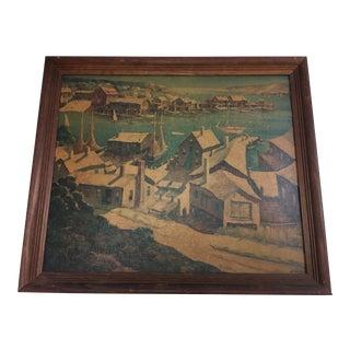 Henry Martin Gasser Town & Harbor Print