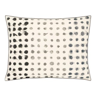 Kenneth Ludwig Chicago Amlapura Graphite Outdoor Pillow For Sale