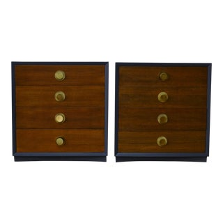 1960's Edward Wormley Style Bedside Chests - a Pair For Sale