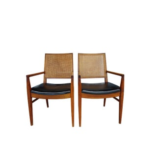 Pair of Mid-Century John Stuart Chairs For Sale