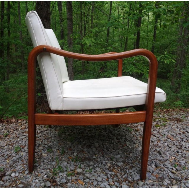 Barney Flagg Rare 1960 Barney Flagg for Drexel Parallel Bent Wood Club Chair For Sale - Image 4 of 13