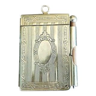 19th C. British Ladies Brass Pocket Notebook For Sale