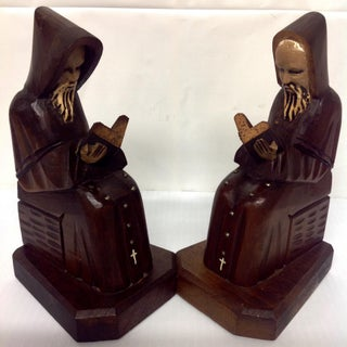 Arts & Crafts-Style Hand-Carved Bookends - A Pair Preview