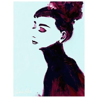 Arthur Pina De Alba - Audrey - iPad Drawing on Archival Art Paper, Edition 3/7, Signed, 2016 For Sale