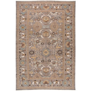 """Persian Sultanabad Rug - 12' x 18'6"""" For Sale"""