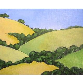 Malibu Hills Oak Trees California Landscape Oil Painting Lynne French Art For Sale