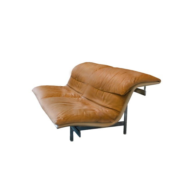 Giovanni Offredi 'Wave' Leather Sofa by Saporiti, Italy For Sale - Image 10 of 10