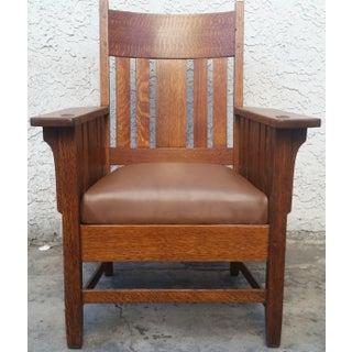 American Antique Mission Oak Armchair Preview