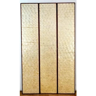 Vintage Mid Century Three Panel Capiz Shell Room Divider Preview