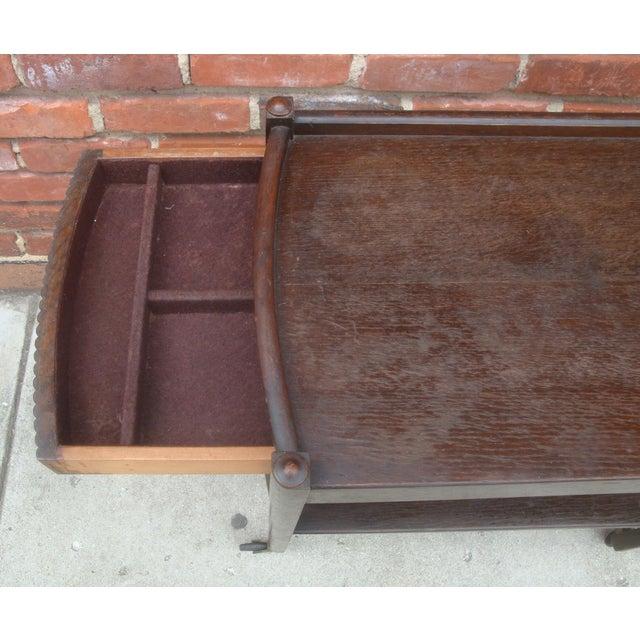 Metal Vintage Streamline Moderne Tea Cart or Bar Cart Art Deco For Sale - Image 7 of 12