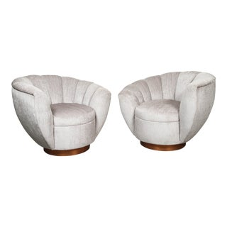 Channel Back Club Chairs - a Pair For Sale