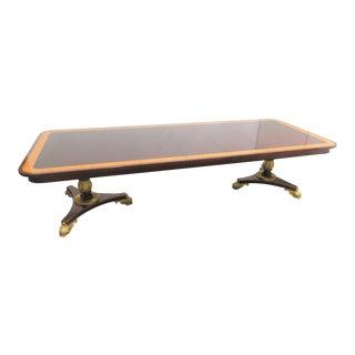 Regency Baker Furniture Company Banded Mahogany Dining Table