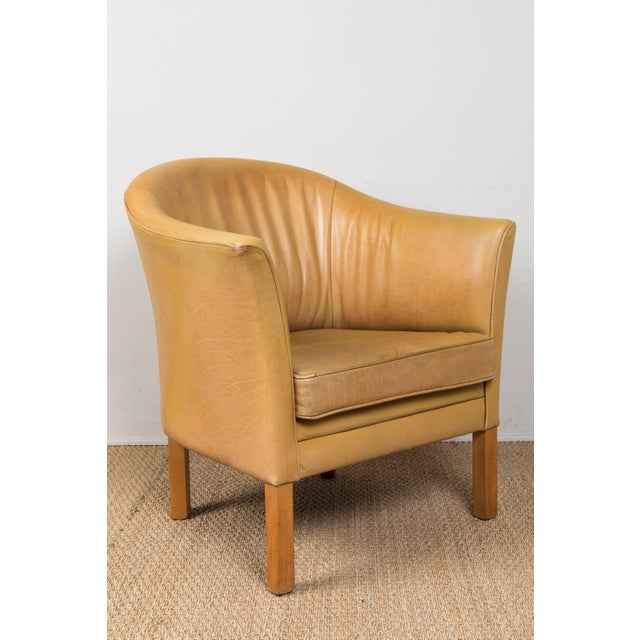 Mid 20th Century Vintage Leather Occasional Chairs (Pair Available) For Sale - Image 5 of 11