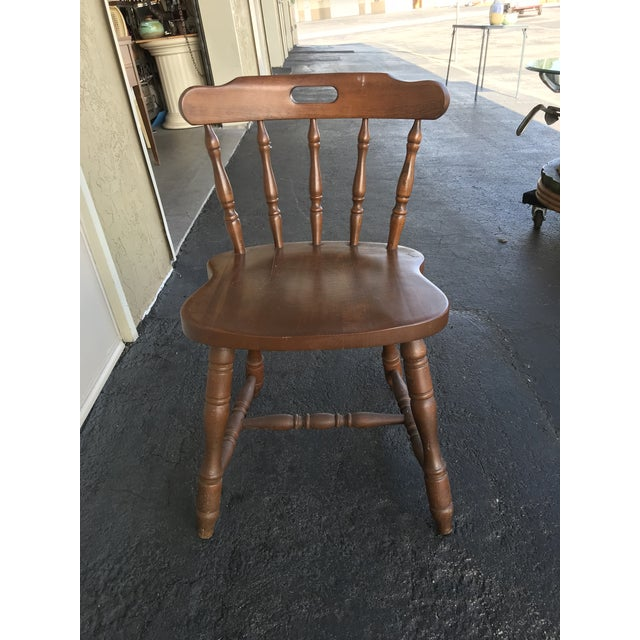 1950s Traditional Bistro Western Yugoslavia Windsor Chair For Sale - Image 10 of 13