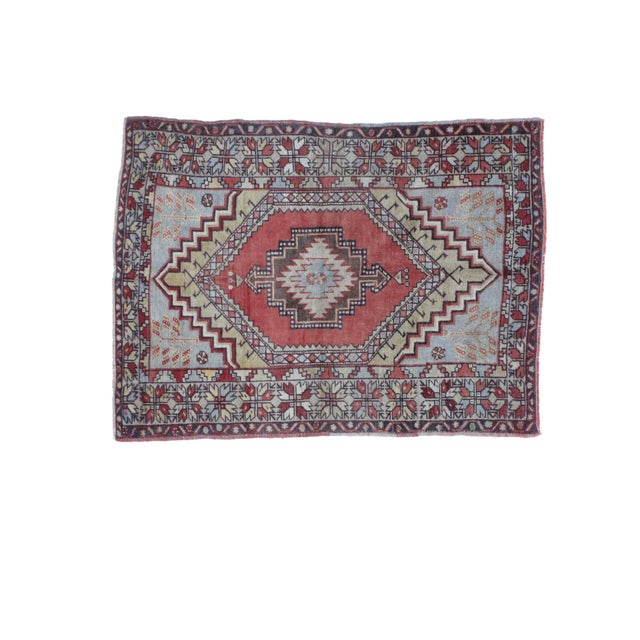 "Leon Banilivi Oushak Wool Rug- 3'7"" X 4'10"" - Image 2 of 5"