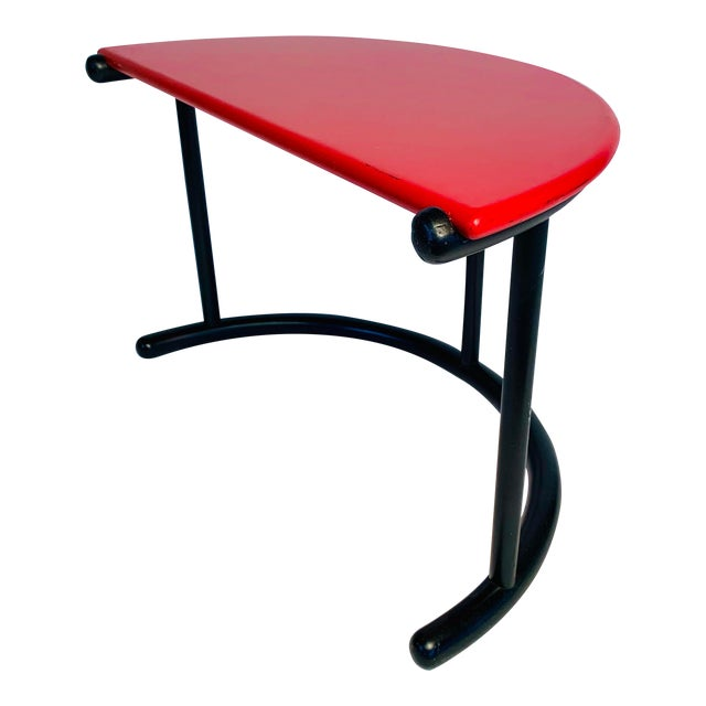 Gianfranco Frattini Demilune Side Table For Sale