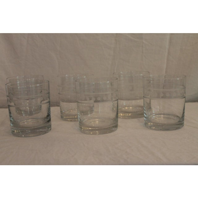 Glass Global Views Double Old Fashion Glasses - Set of 6 For Sale - Image 7 of 7