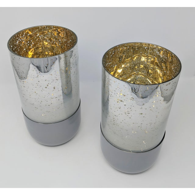 Mercury Glass Candle Holders - a Pair (2) For Sale In Providence - Image 6 of 11