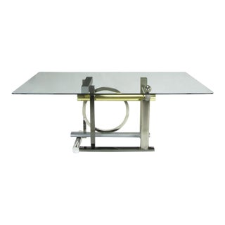 Design Institute America Metal Sculptural Dining Table by Kaizo Oto For Sale