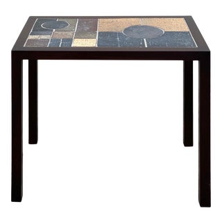 Danish Ceramic Side Table For Sale