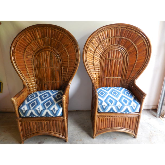 Vintage Bamboo Peacock Chairs - A Pair - Image 2 of 8