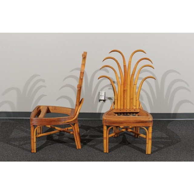 Jaw-Dropping Set of 8 Custom Made Palm Frond Dining Chairs, Circa 1950 For Sale In Atlanta - Image 6 of 13