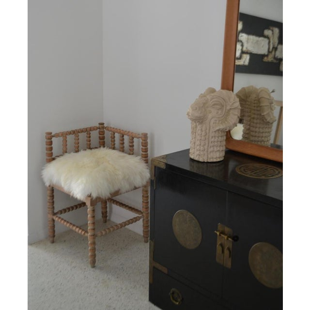 Turned Wood Corner Chair For Sale - Image 4 of 13