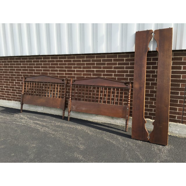 Traditional Jenny Lind Full Size Spindle Headboard Footboard & Side Rails For Sale - Image 3 of 9