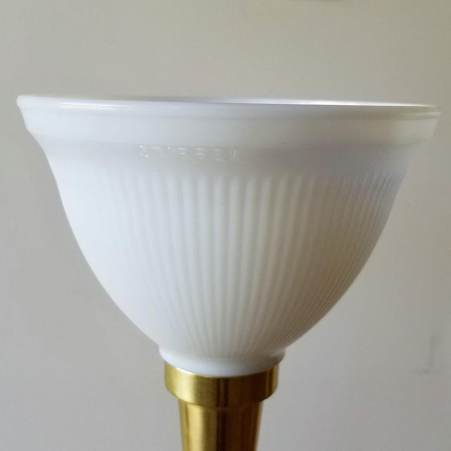 Metal 1960s Stiffel Neoclassical Brass and Ivory Table Lamps - a Pair For Sale - Image 7 of 13