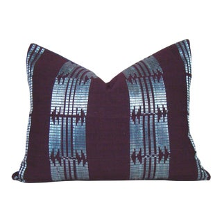 Handwoven African Aso Oke Lumbar Pillow Cover For Sale