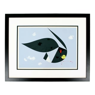 Contemporary Framed Signed Charley Harper Everglade Kite Ford Times 1957 W Coa For Sale
