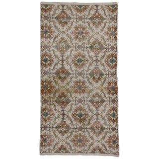 20th Century Turkish Distressed Sivas Rug For Sale