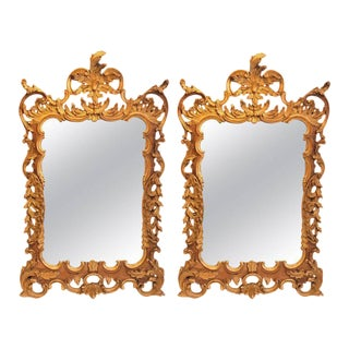Ornate Italian Labarge Rococo Gilt Mirrors - a Pair