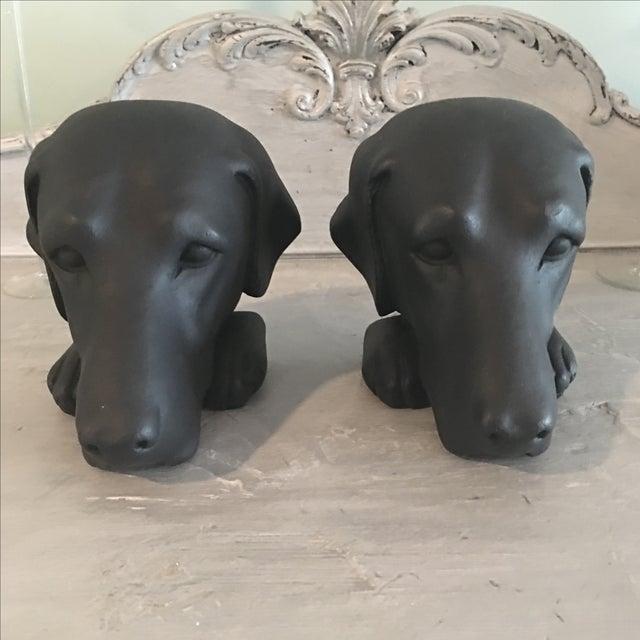 Vintage Black Lab Labrador Bookends - Image 3 of 5