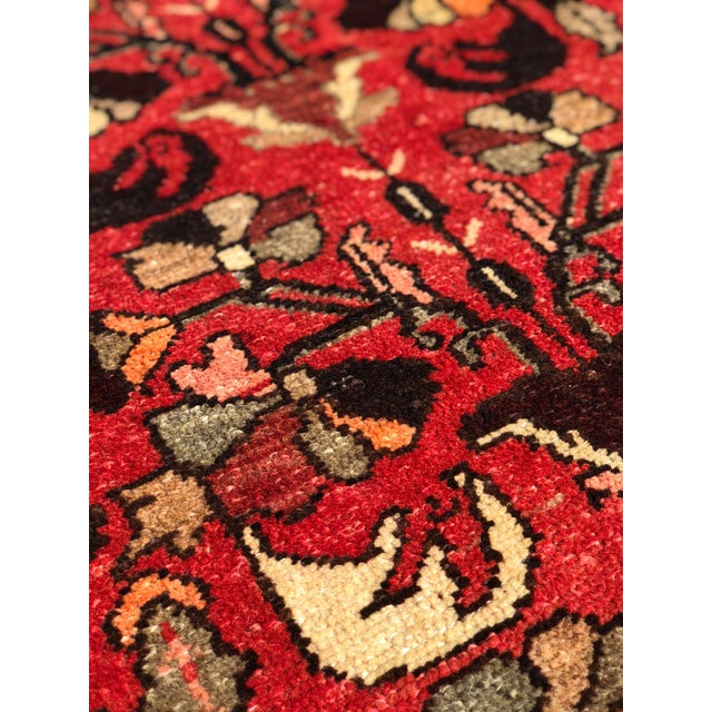 """1960's Vintage Persian Hamadan Thick & Heavy Runner 3'3""""x9'4"""" For Sale In Atlanta - Image 6 of 13"""