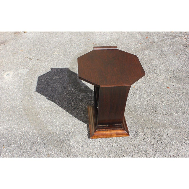 1940s 1940s Art Deco Macassar Ebony Tulip Coffee Table For Sale - Image 5 of 12