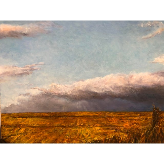 Oil on canvas painting by JM Barrie. The piece depicts a wheat field landscape.